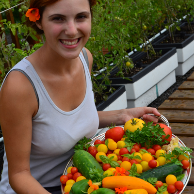 Jardin sur le toit du Resto Pop